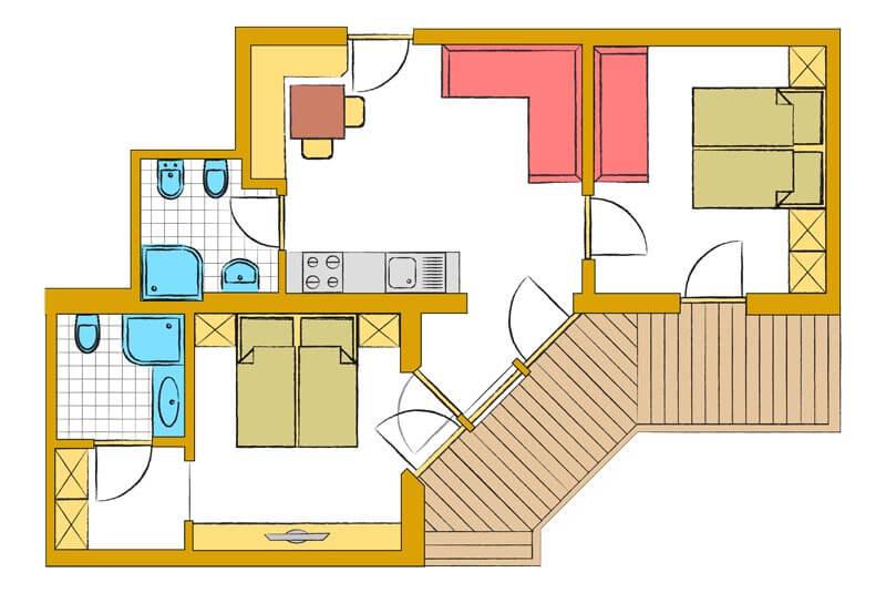 disposizione camera da letto: bu b valle aurina appartamenti u ... - Disposizione Mobili Camera Da Letto